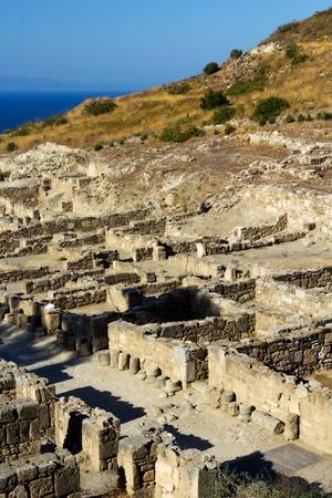 antik: Ancient ruins of Kamiros, Rhodes - Greece Stock Photo