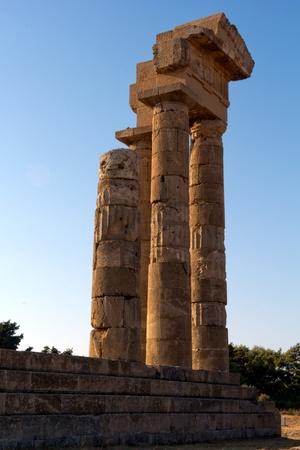 rhodes: Temple of Apollonas, Rhodes Island, Rhodes - Greece Stock Photo