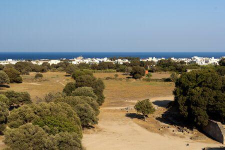 L'isola di Rodi, Grecia Archivio Fotografico