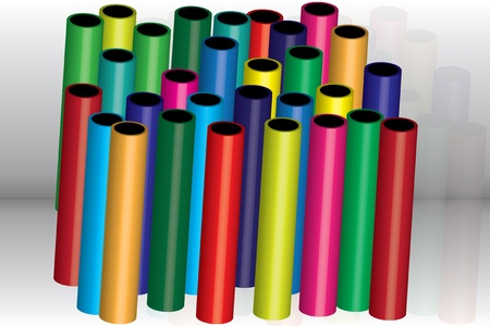 colored tubes Vector