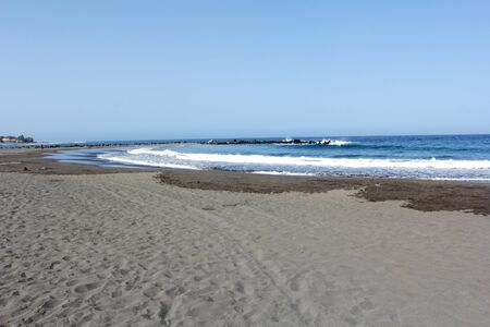 Beach of Las America - Island of Tenerife - Canary Islands - Spain Stock Photo