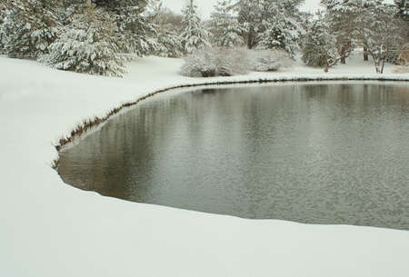 pond at Bottle Creek Retreat, Beatrice, Nebraska