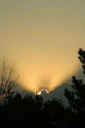 Nebraska sunrise, vertical