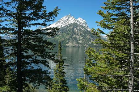 jenny: Jenny Lake; Grand Teton National Park Stock Photo