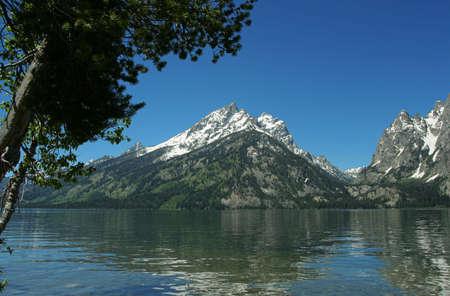 jenny: Jenny Lake reflection; Grand Tetons Stock Photo