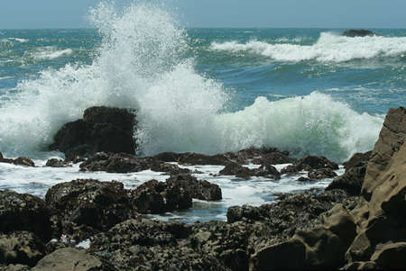 crashing wave, northern California