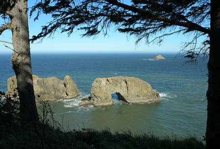 Arch Rock north of Brookings, Oregon