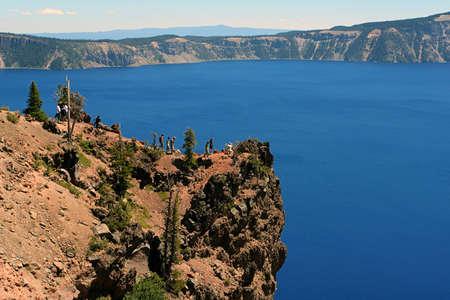 Crater Lake cliff, Oregon Stock Photo