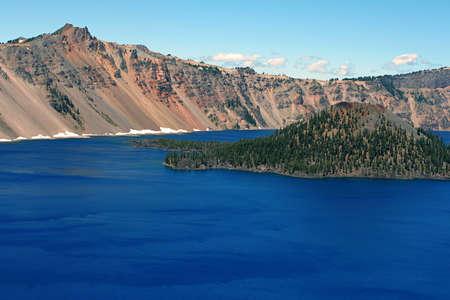Crater Lake, Wizard Island Imagens