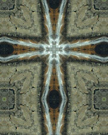 Kaleidoscope Cross:  Yosemite Falls