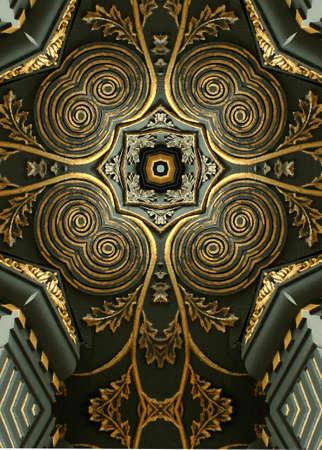 kaleidoscope cross:  gold leaf2, restored building