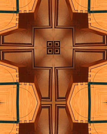 tabernacle: kaleidoscope cross:  wooden tabernacle