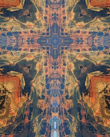kaleidoscope cross:  Grand Canyon9 版權商用圖片
