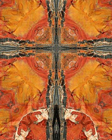 kaleidoscope cross:  petrified wood3, Arizona