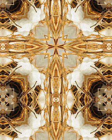 kaleidoscope cross:  prairie grass and snow
