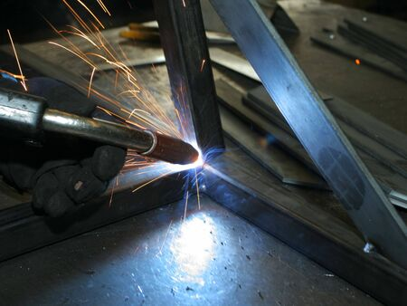 welder at work 3 版權商用圖片