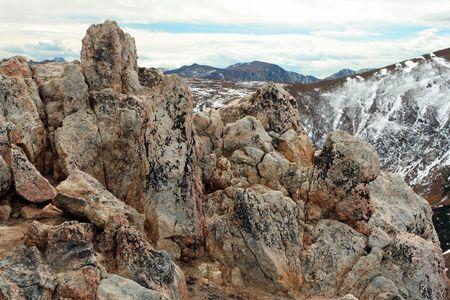 high rocks; Rocky Mountain National Park, Colorado