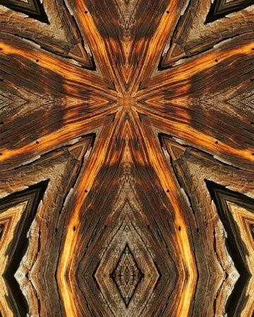kaleidoscope cross:  wood grains