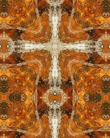 kaleidoscope cross:  bubbles in mountain stream, Colorado