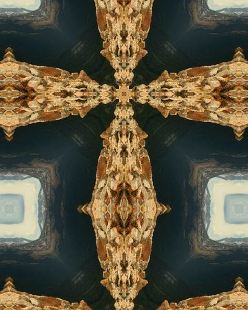 kaleidoscope cross: Colorado mountain rocks Reklamní fotografie