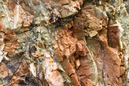 colorful chert closeup; Rainbow Rock, Brookings, Oregon