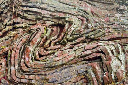 folded layers of sedimentary chert at Rainbow Rock, Brookings, Oregon
