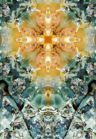 kaleidoscope cross, colorful layers of chert, Oregon coast Imagens