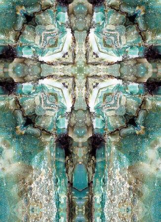 kaleidoscope cross, layers of bluechert, Oregon coast Imagens