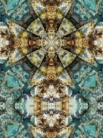 kaleidoscope cross, layers of chert, Oregon coast