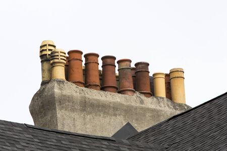 rijtjeshuis schoorstenen, St John's, Newfoundland