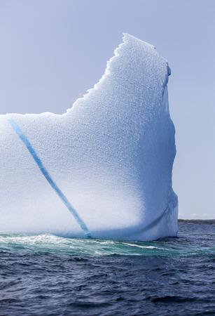 iceberg with blue streak 스톡 콘텐츠