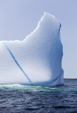 iceberg with blue streak 版權商用圖片