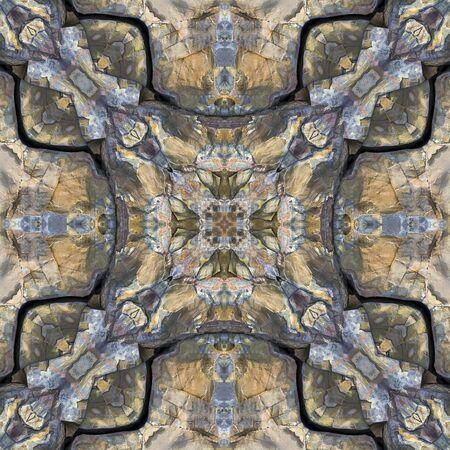 kaleidoscope square:  Newfoundland rock