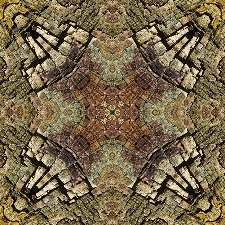 kaleidoscope square: layers of fractured chert, Oregon coast Imagens