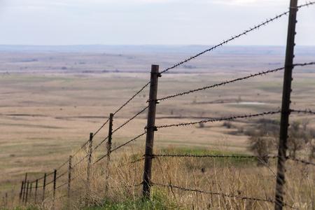 철조망 울타리 언덕, 플린트 힐스, 캔자스