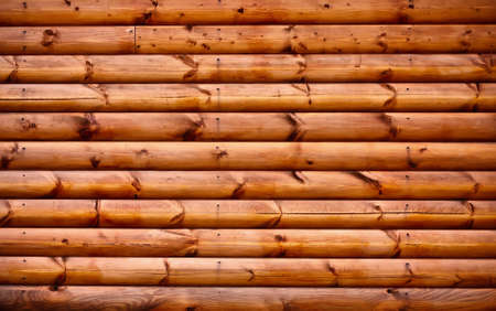 log wall: Wooden background - part of log cabin