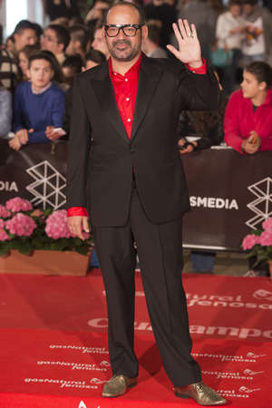 comedian: MALAGA, SPAIN April 24: The Spanish comedian Jose Corbacho attends red carpet during the 16th Festival of Malaga in Malaga, Spain