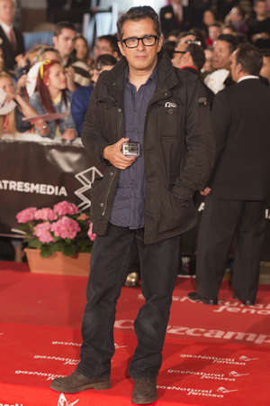 comedian: MALAGA, SPAIN April 24: The Spanish comedian Andreu Buenafuente attends red carpet during the 16th Festival of Malaga in Malaga, Spain