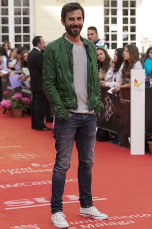 millan: Spanish actor Santi Millan atends red carpet photocall  at 16 Malaga Film Festival in Malaga, Spain,