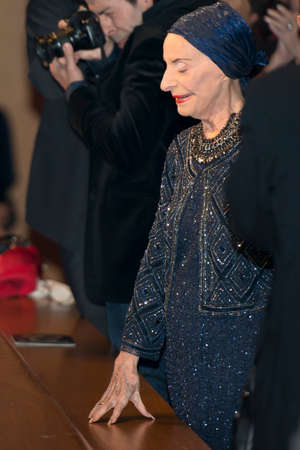 choreographer: SEVILLE, SPAIN, November 2  Cuban ballerina and choreographer Alicia Alonso receives applause at the premiere of Giselle and Coppelia represented by the National Ballet of Cuba in the theater of La Maestranza in Seville, Spain  Editorial