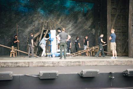 backstage: SEVILLE, SPAIN, November1  Backstage Les Miserables in Seville, Spain