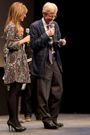 feature films: SEVILLE, SPAIN, November 9: Andre Margarie (Art Channel International Relations)  presented the film, Camille Claudel. 1915 - at the Teatro Lope de Vega in the X European Film Festival in Seville in Seville, Spain. Editorial