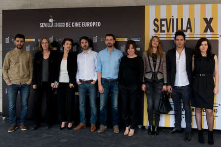 feature films: SEVILLE, SPAIN, November 10: attend the photo call prior to the press conference of the film anywhere -10.000 nights during X-over Seville European Film Festival (SEFF) in Seville, Spain.