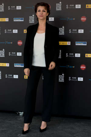 feature films: SEVILLE, SPAIN, November 10: Najwa Nimri attend the photo call prior to the press conference of the film anywhere -10.000 nights during X-over Seville European Film Festival (SEFF) in Seville, Spain.