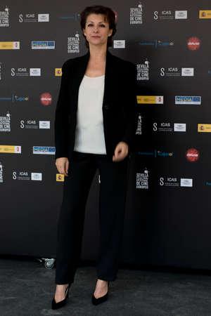 screenwriter: SIVIGLIA, SPAGNA, 10 novembre: Najwa Nimri frequentano il photo call prima della conferenza stampa del film sul web -10,000 notti durante X-over Siviglia European Film Festival (SEFF) a Siviglia, Spagna. Editoriali