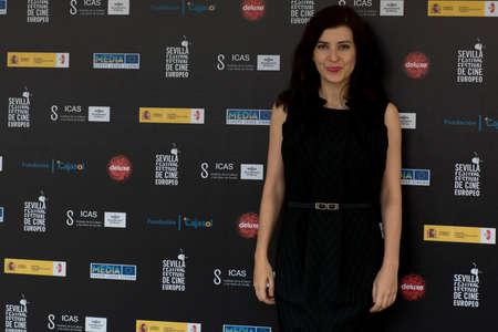 screenwriter: SIVIGLIA, SPAGNA, 10 novembre: Rut Santamaria partecipare al photo call prima della conferenza stampa del film sul web -10,000 notti durante X-over Siviglia European Film Festival (SEFF) a Siviglia, Spagna. Editoriali
