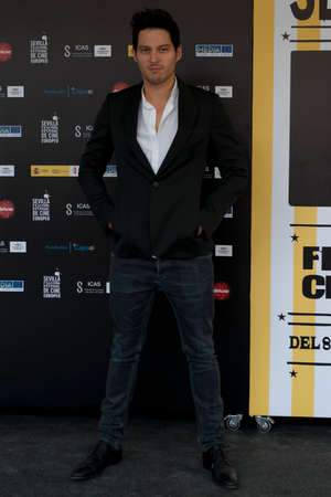 feature films: SEVILLE, SPAIN, November 10: Manuel Castillo attend the photo call prior to the press conference of the film anywhere -10.000 nights during X-over Seville European Film Festival (SEFF) in Seville, Spain.