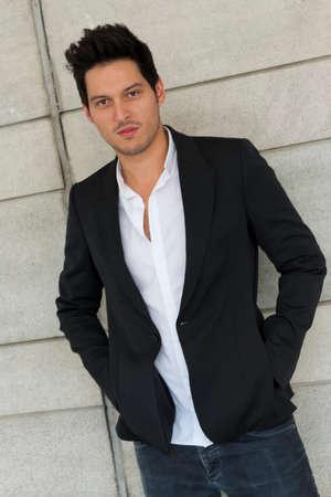 spainish: SEVILLE, SPAIN, November 10  Portrait of spanish actor Manuel Castillo in Seville, Spain  Editorial