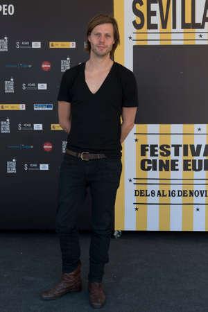 SEVILLE, SPAIN, November 15  Film maker Felix van Groeningen atends photocall of the presentation of his film -Alabama Monroe- in Seville, Spain  Stock Photo - 23738587