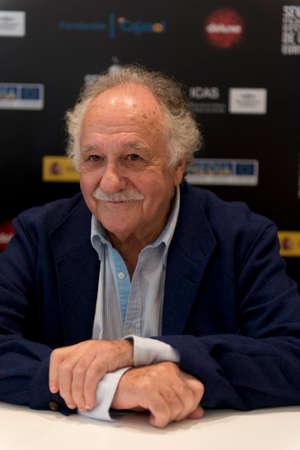 fil: SEVILLE, SPAIN, November 14: Film maker Ricardo Pachon atends the press conference of the fil -Triana pura y pura- in Seville, Spain